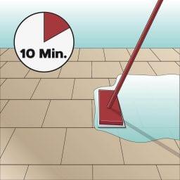 Icon Reinigungsmittel verteilen und 10 Minuten einwirken lassen